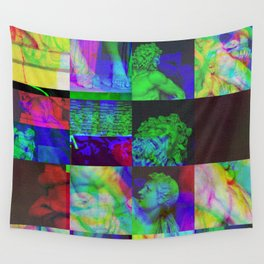 Poseidon Glitch 02 Wall Tapestry
