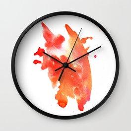 watercolor orange 1 Wall Clock