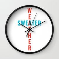 the neighbourhood Wall Clocks featuring SWEATER WEATHER by SaladInTheWind