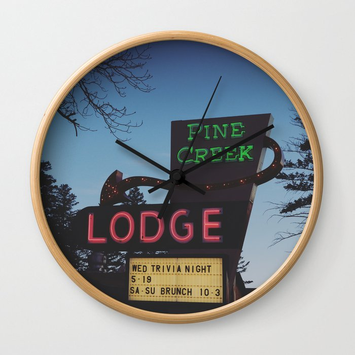Pine Creek Lodge Wall Clock