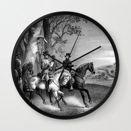 The Surrender Of General Lee Wall Clock