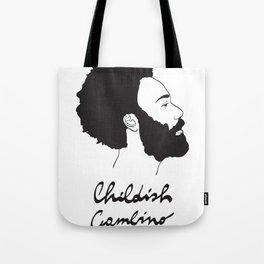 Childish Gambino - Minimalist profile portrait Tote Bag