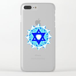 Jewish Star Clear iPhone Case