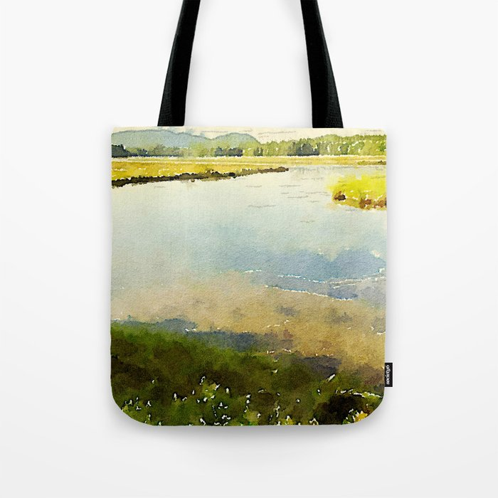 Salt Grass Marsh Tote Bag