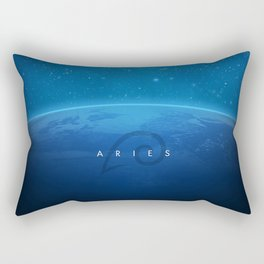 Aries: Astrological Art Rectangular Pillow