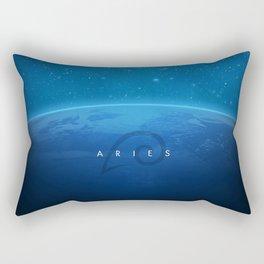 Aries: Astrological Art Rectangular Pillow