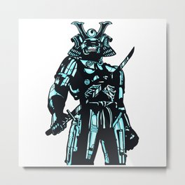 Cybersamurai Metal Print