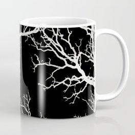 White tree branches silhouette #1 Coffee Mug