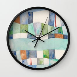 Tranquil Waters, Blue and Green Wall Clock