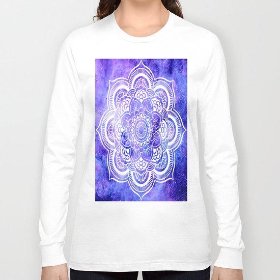 Mandala Violet Blue Galaxy Space Long Sleeve T-shirt