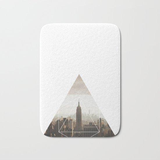 Empire State Building - Geometric Photography Bath Mat