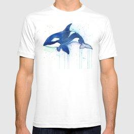 Killer Whale Orca Watercolor T-shirt
