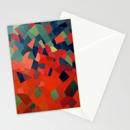 Grün-Rot Otto Freundlich 1939 Abstract Art Mid Century Modern Geometric Colorful Shapes Hard Edge Stationery Cards