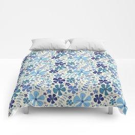 My Little Garden blue & green Comforters
