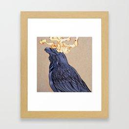 The Shadow Raven Framed Art Print