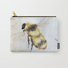 Bumble bee watercolor Carry-All Pouch