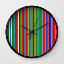 Every Color Of Cardigan Mister Rogers Wore From 1979-2001 -- no text Wall Clock