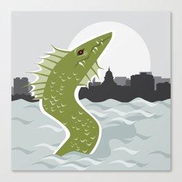 Bozho the Lake Mendota Monster Canvas Print