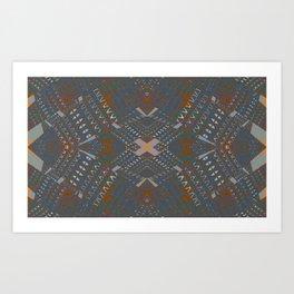 Sturdy Structured Tribal Art Print