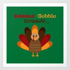 Gobble Me Up! (Square) Art Print