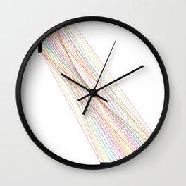 Rainbow Lines (White) Wall Clock