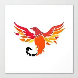 Phoenix With Scorpion Tail Icon Canvas Print