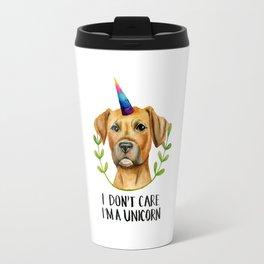 """""""I'M A UNICORN"""" Pit Bull Dog Illustration Travel Mug"""