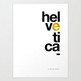 Helvetica Typoster #1 Art Print