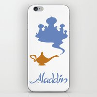 aladdin iPhone & iPod Skins featuring Aladdin by Citron Vert