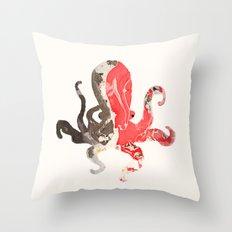 marble octo Throw Pillow