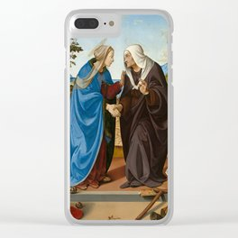Piero di Cosimo - The Visitation with Saint Nicholas and Saint Anthony Abbot Clear iPhone Case