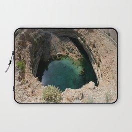 Bimmah Sink hole (Hawaiyat Najm) in Dibba Al Bay Ah, Oman Laptop Sleeve