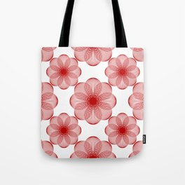 Seamless pattern of simple geometric lace flowers Tote Bag