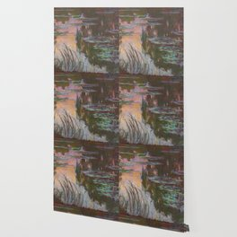 Water Lilies - Setting Sun by Claude Monet Wallpaper