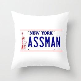 New York Assman Throw Pillow