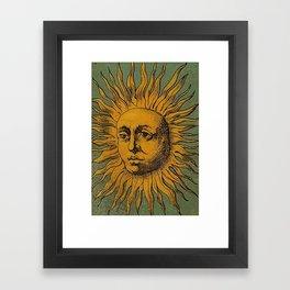 Sun Tarot Framed Art Print