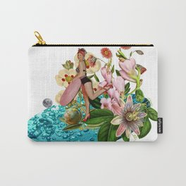Girl at the Pool #collage Carry-All Pouch