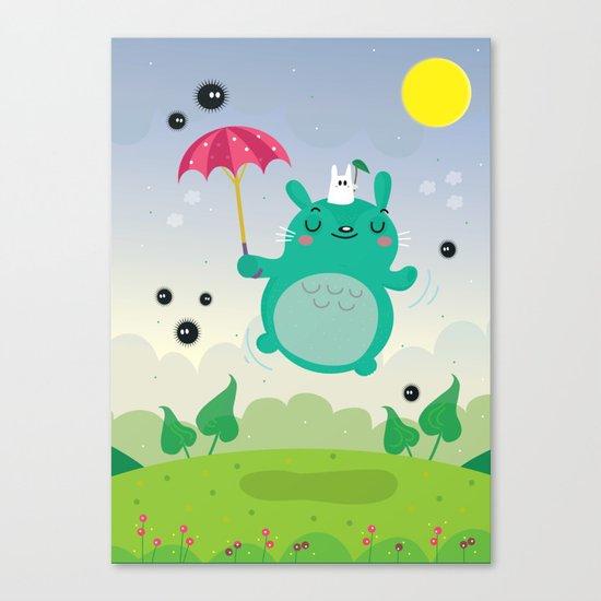 Cute neighbor Canvas Print