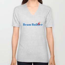 Beam Builder Ninja in Action Unisex V-Neck
