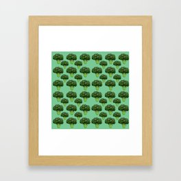 Broccoli Pattern Framed Art Print