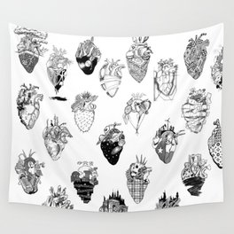 The Anatomy of a Heart Pattern Wall Tapestry