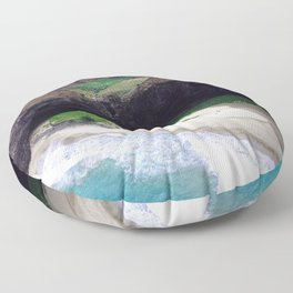 For Angels, Only: Divine Tropical White Sand Beach Floor Pillow