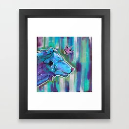 Blue Bear King Framed Art Print