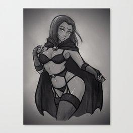 raven lingerie Canvas Print