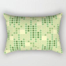 BRIXHAM, VINTAGE RETRO SQUARES: SPRING GREEN Rectangular Pillow