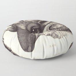 Ram's Head Floor Pillow