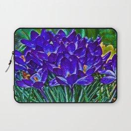 Siebers Crocus | Spring Flowers | Vivid Vioilet Oil Painting Laptop Sleeve