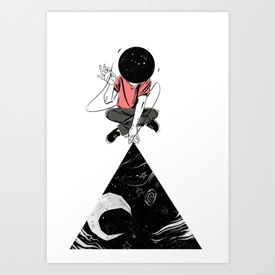 Space Stitch Art Print