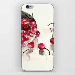 Cherries in a Bowl iPhone Skin