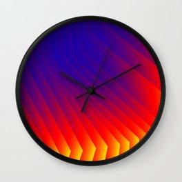 Color Fan Wall Clock